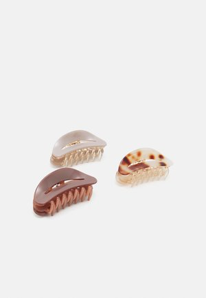 PCPOLLI HAIRSHARKS 3 PACK - Hair styling accessory - purple heather/simply taupe/chocolate plum