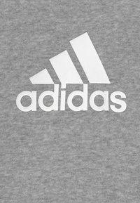 adidas Performance - LOGO SET UNISEX - Treningsdress - medium grey heather/white/black - 3