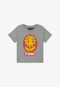 Mini Rodini - FLOWER  TEE - Print T-shirt - grey melange - 2