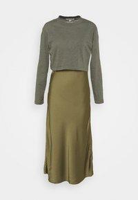 BENNO TEE DRESS SET - Long sleeved top - pale olive