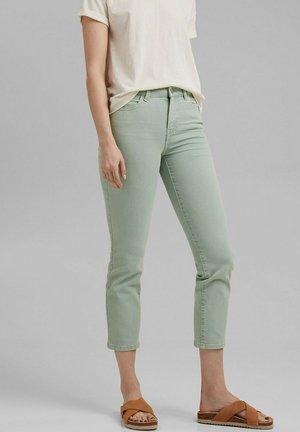 Trousers - mottled green