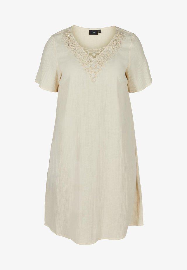Korte jurk - beige as sample