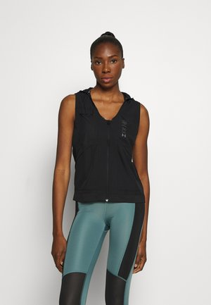 UA RUN ANYWHERE VEST - Bodywarmer - black