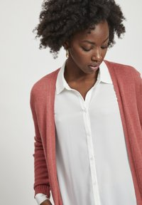 Vila - VIRIL LONG CARDIGAN  - Cardigan - dusty cedar - 3