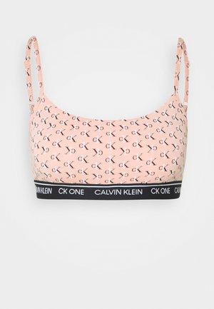 ONE PRIDE CAPSULE UNLINED BRALETTE - Bustier - light pink/black/white
