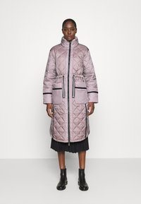 Hunter ORIGINAL - WOMENS REFINED LONG QUILTED COAT - Cappotto invernale - metallicred - 0
