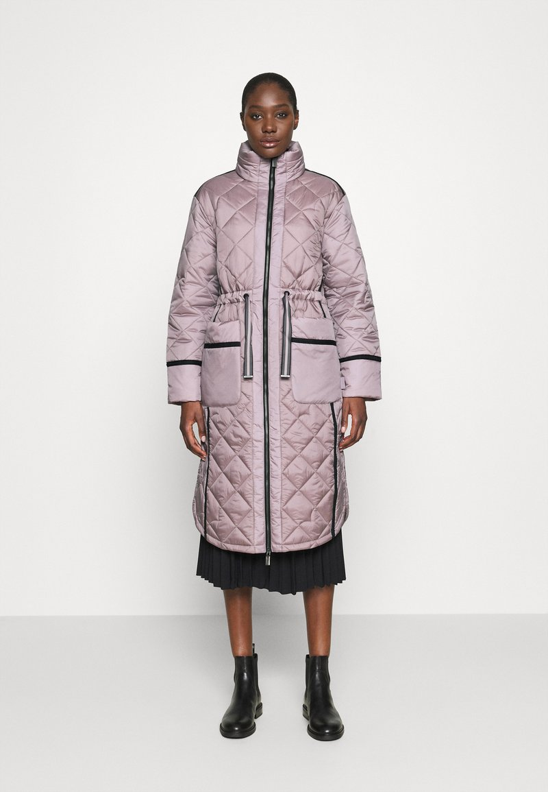 Hunter ORIGINAL - WOMENS REFINED LONG QUILTED COAT - Cappotto invernale - metallicred