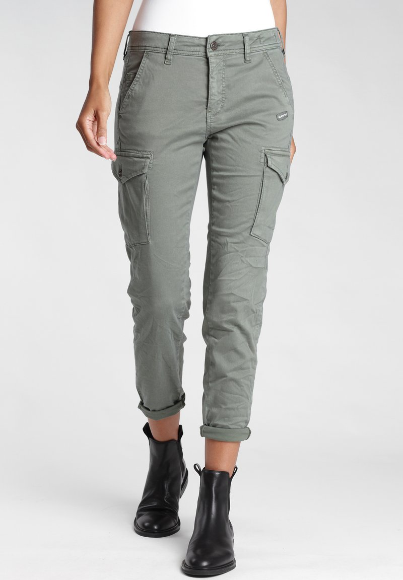 Gang - AMELIE  - Relaxed fit jeans - green thyme old