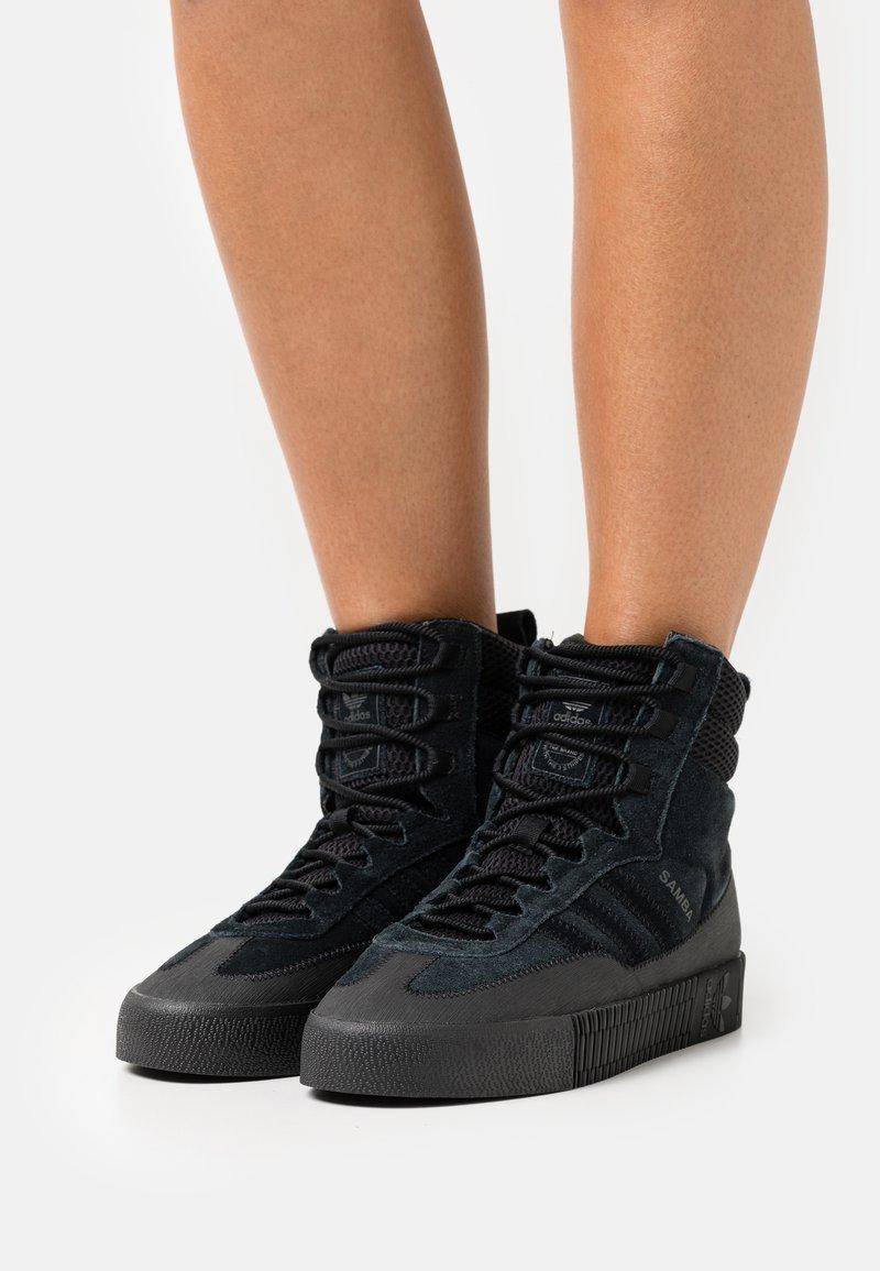 adidas Originals - SAMBA  - High-top trainers - core black
