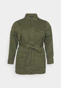 New Look Curves - LOTUS BELTED SHACKET - Summer jacket - khaki - 3