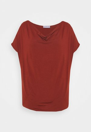 Print T-shirt - dark red
