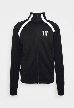 FUNNEL NECK TRACK TOP - Mikina na zip - black/silver