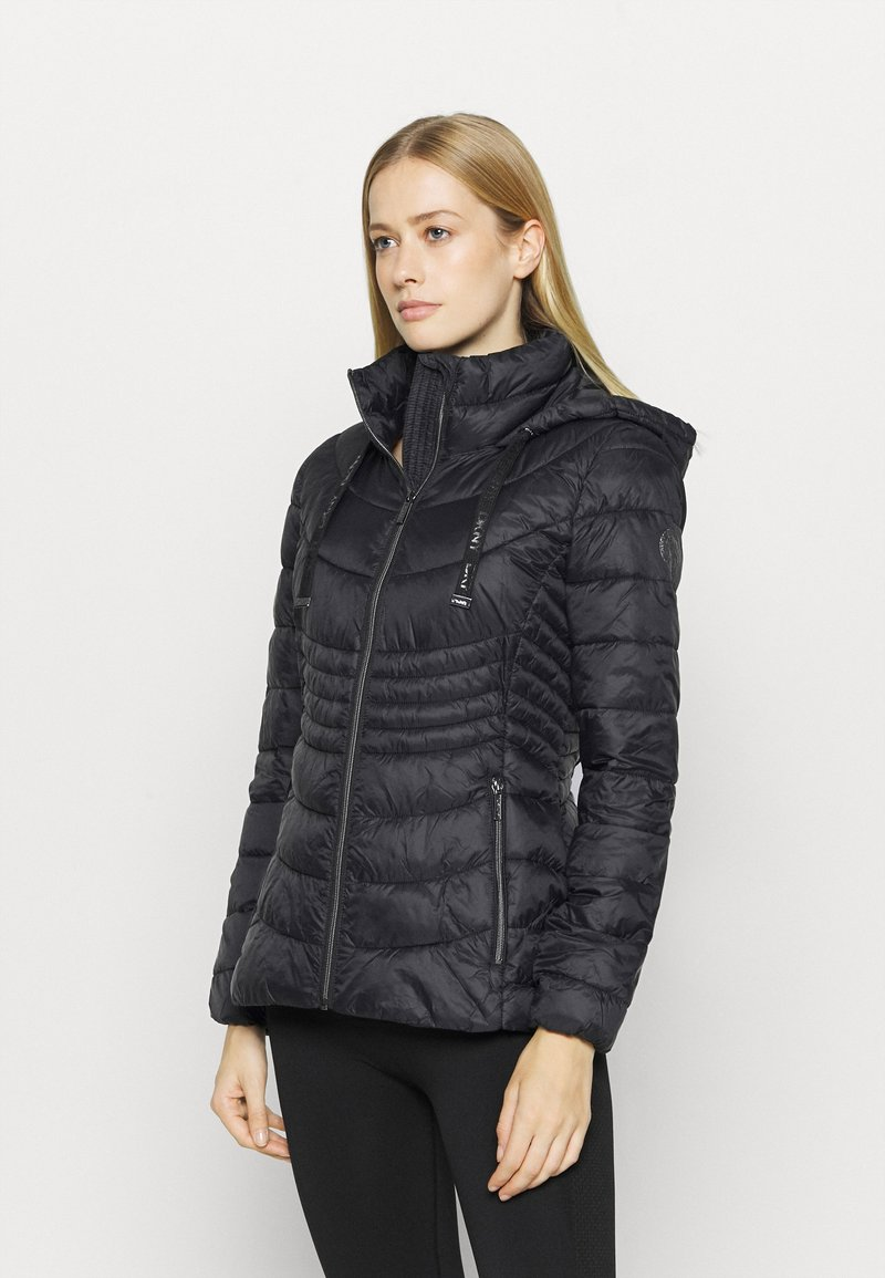 DKNY - ZIP SHORT - Training jacket - black