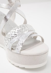 Marco Tozzi - Platform sandals - silver - 2