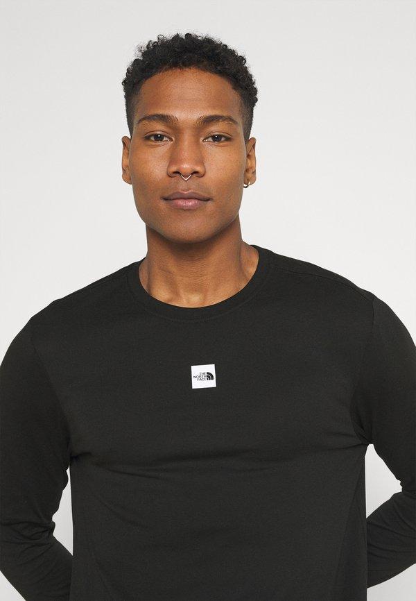 The North Face CENTRAL LOGO - Bluzka z długim rękawem - black/czarny Odzież Męska ELUE