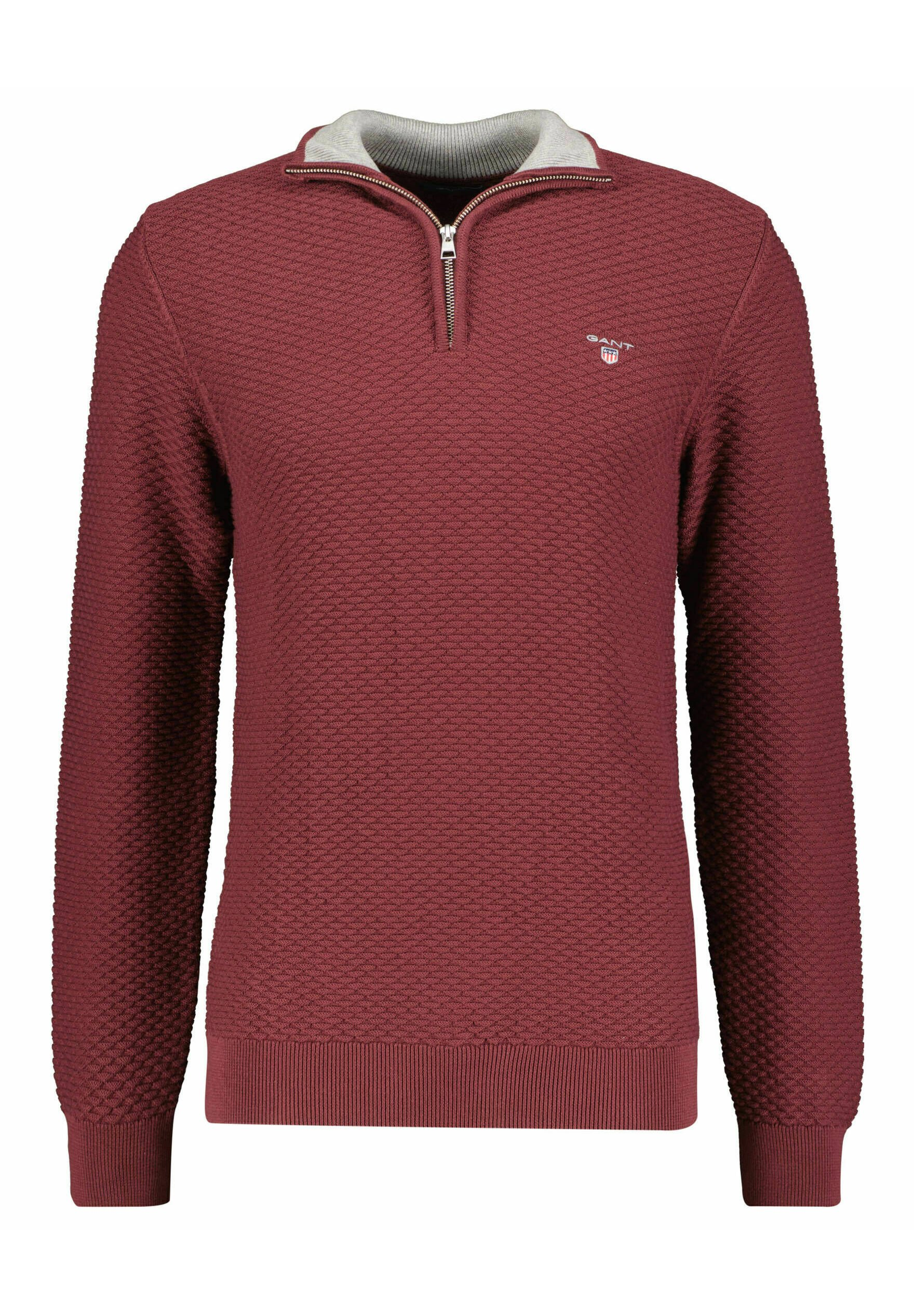 Homme TRIANGLE HALF  - Pullover - bordeaux