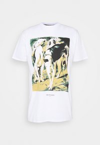 Trussardi - PURE CLOSE FIT - Print T-shirt - white - 0