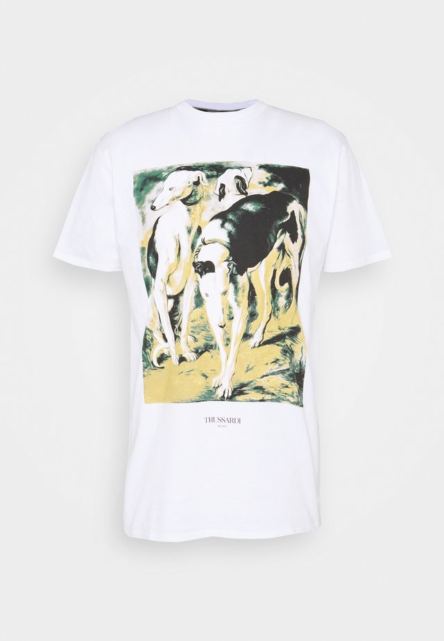 PURE CLOSE FIT - T-shirt print - white