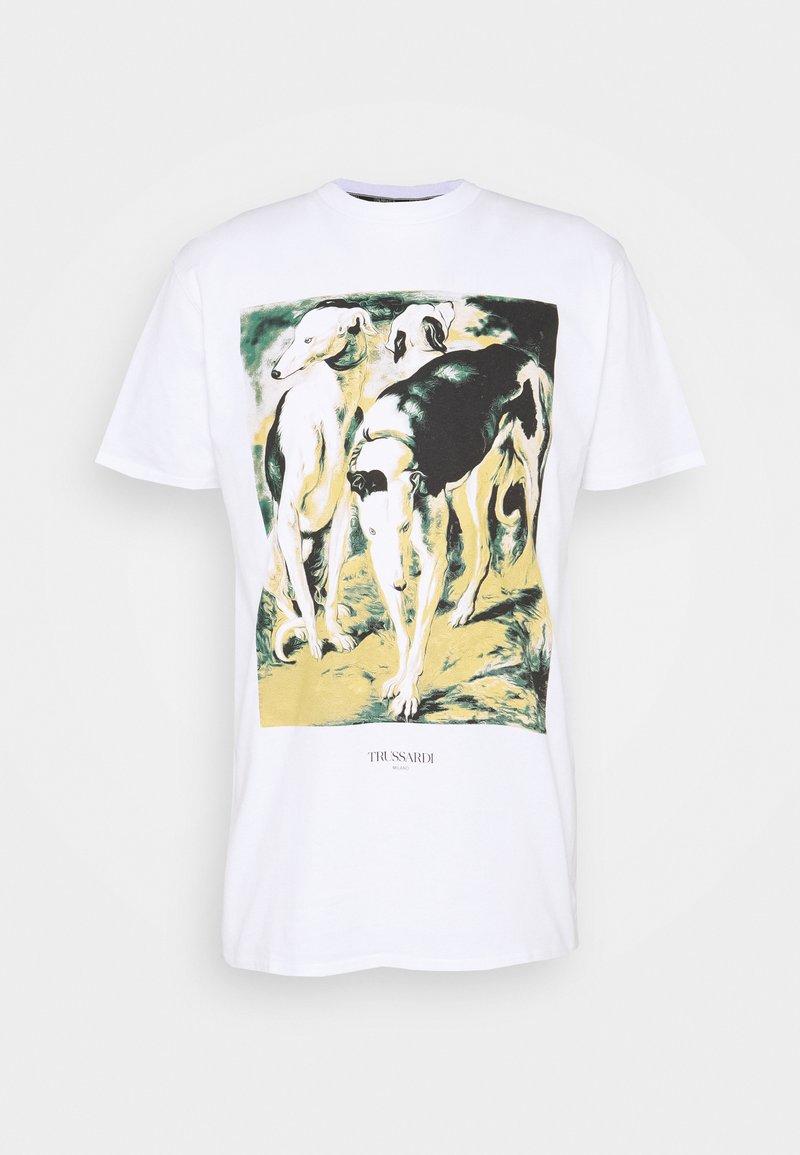 Trussardi - PURE CLOSE FIT - Print T-shirt - white