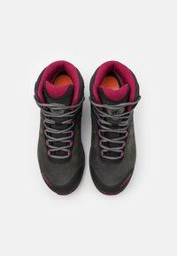 Mammut - NOVA III MID GTX WOMEN - Hiking shoes - black/dark sundown - 3