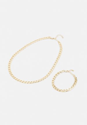 PCLAUI BRACELET NECKLACE SET - Necklace - gold-coloured