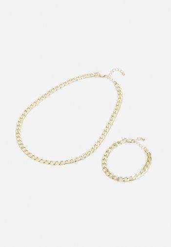 PCLAUI BRACELET NECKLACE SET - Ketting - gold-coloured