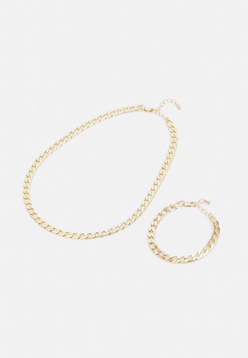 Pieces - PCLAUI BRACELET NECKLACE SET - Necklace - gold-coloured