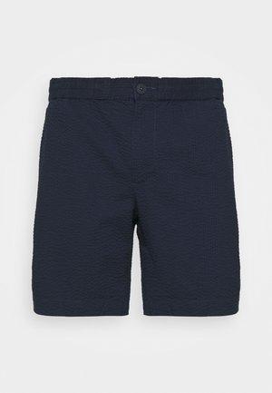 MODERN SEERSUCKER - Shorts - dark midnight
