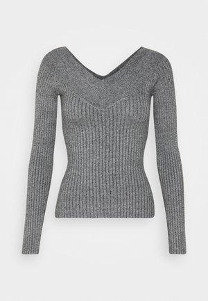 BARDOT NECKLINE - Strickpullover - grey melange