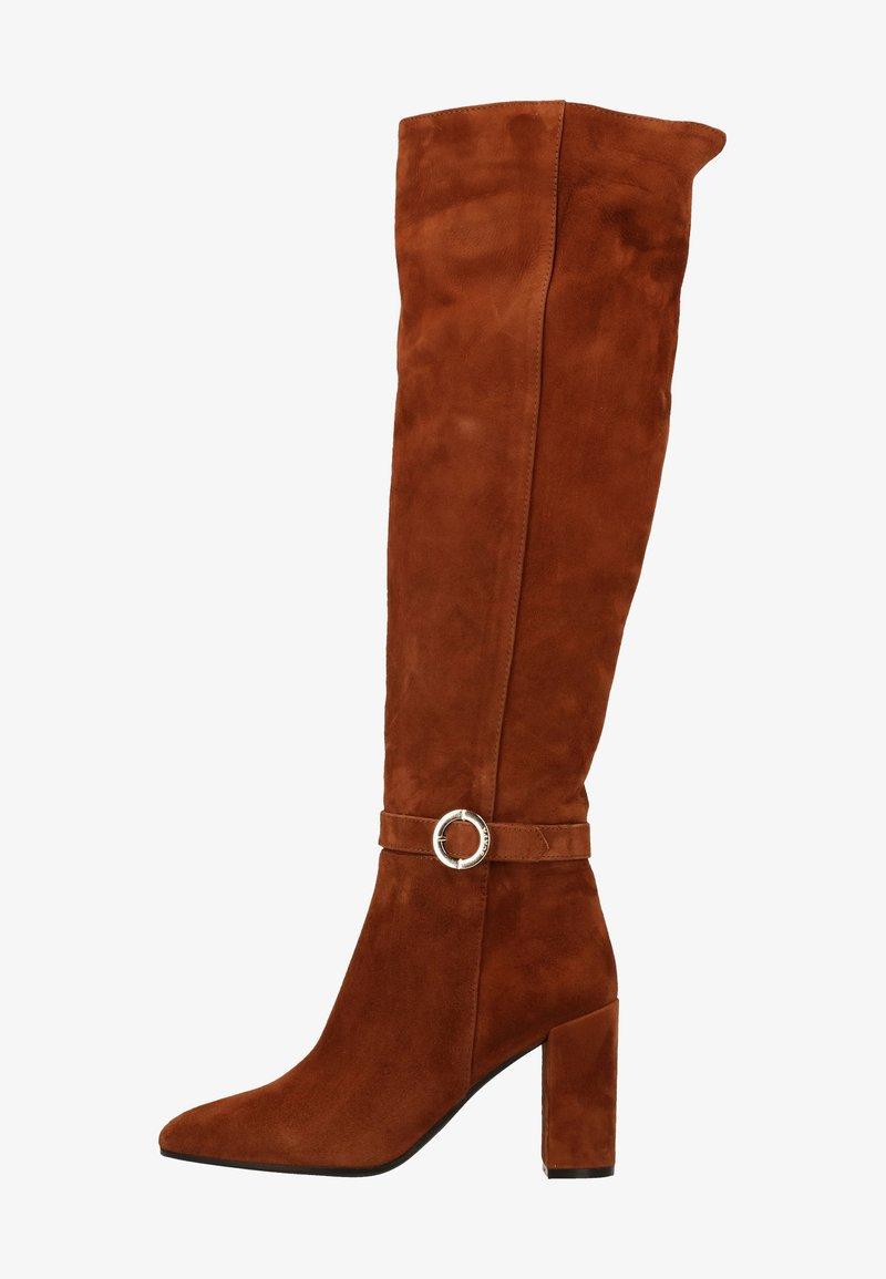 Scapa - High heeled boots - nociola/castagn