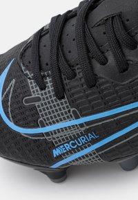 Nike Performance - JR MERCURIAL VAPOR 14 ACADEMY FG/MG UNISEX - Moulded stud football boots - black/iron grey - 4