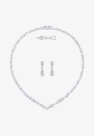 TENNIS DELUXE V MIXED SET - Earrings - white