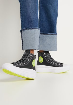CHUCK TAYLOR MOVE PLATFORM - Sneakers alte - black/lemon/white