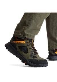 Timberland - GARRISON TRAIL LOW GTX - Casual lace-ups - dark green suede - 1