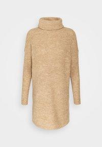ONLY Petite - ONLJANA COWLNK DRESS - Strikket kjole - beige melange - 3