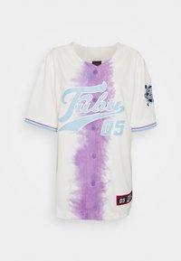 FUBU - VARSITY TIE DYE BASEBALL - T-shirt con stampa - white - 5