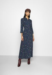 YAS - YASSAVANNA FLOWER LONG DRESS - Maxi dress - ensign blue - 1