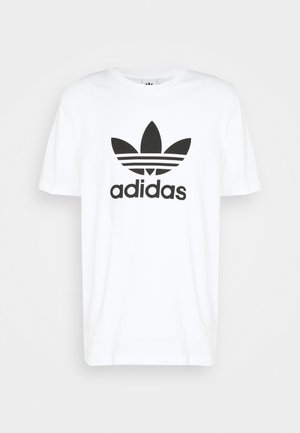 TREFOIL UNISEX - T-shirt z nadrukiem - white/black