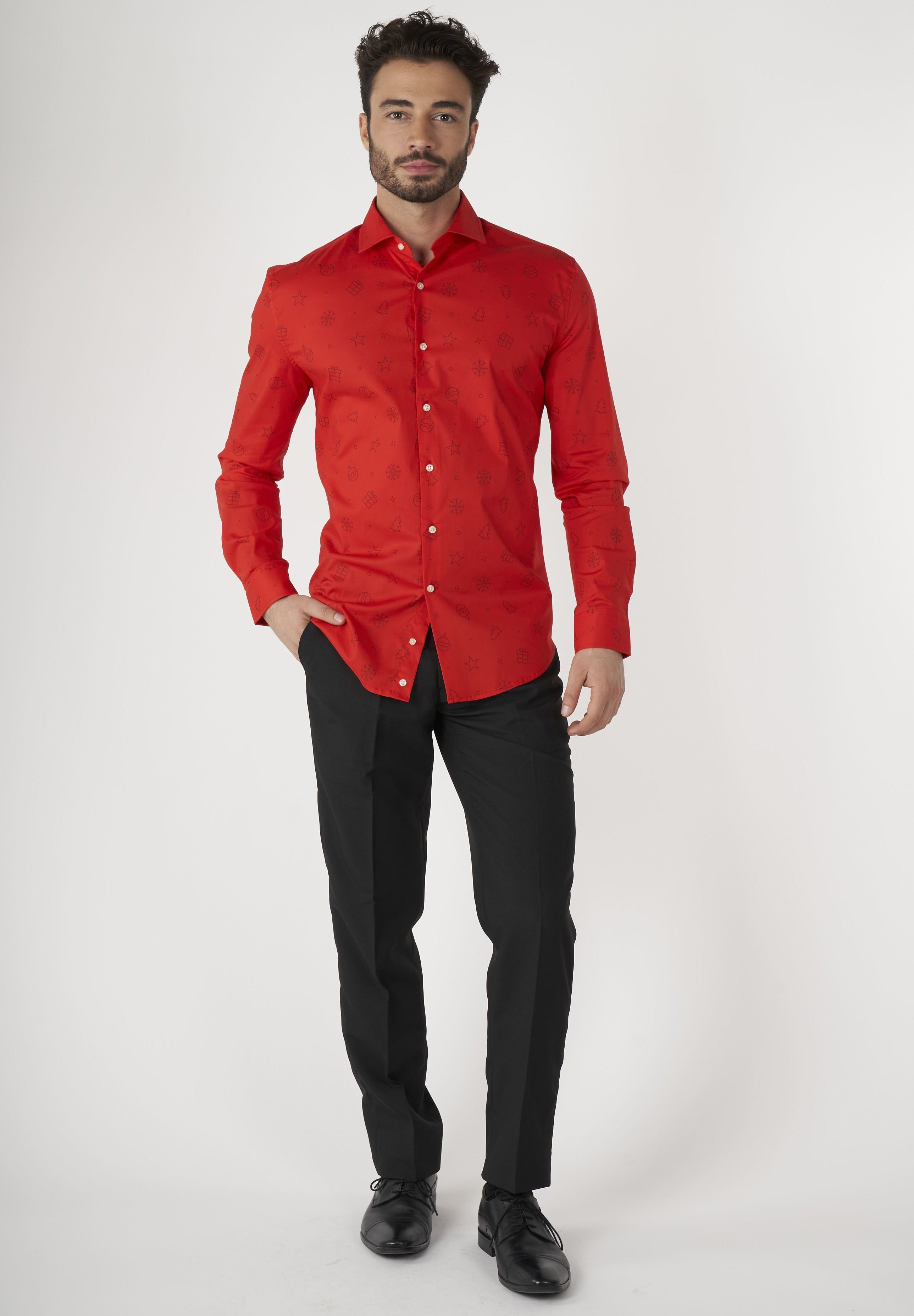Homme CHRISTMAS ICONS RED - Chemise classique