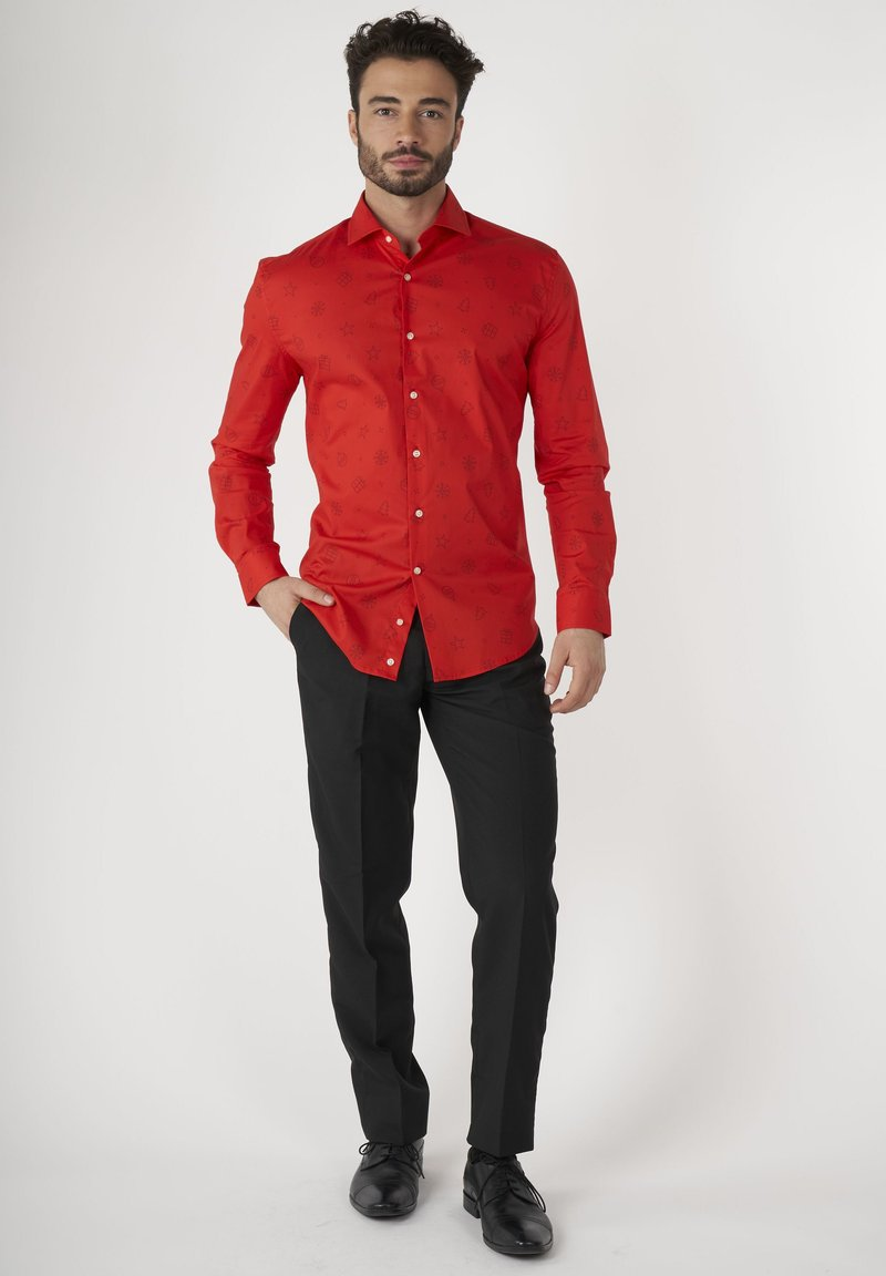 OppoSuits - CHRISTMAS ICONS RED - Formal shirt - red