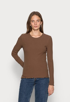 SLFANNA CREW NECK TEE - T-shirt à manches longues - carafe