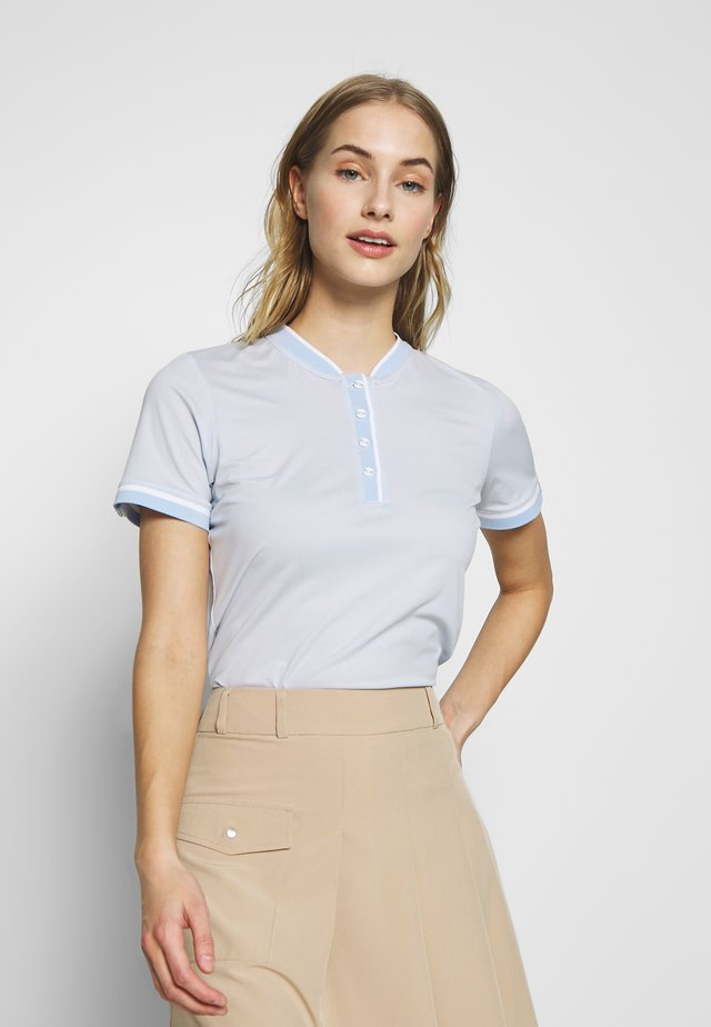 WOMEN ELENA STRIPE  - Polo shirt - capri blue/white