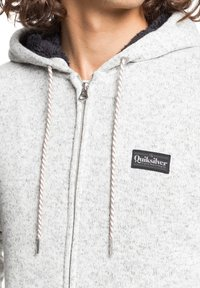 Quiksilver - KELLER - SHERPA-FLEECE MIT REISSVERSCHLUSS UND KAPUZE - Zip-up hoodie - light grey heather - 3