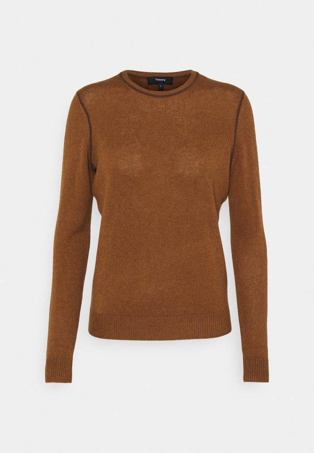 CREW NECK - Neule - driftwood/brown
