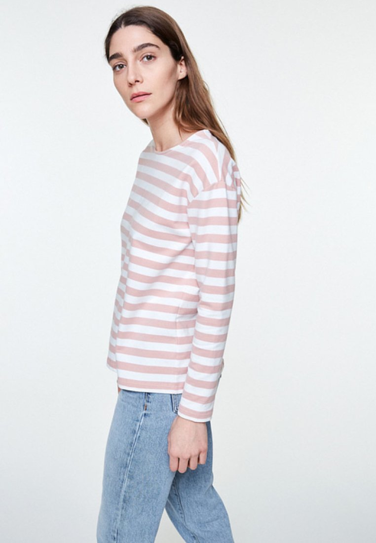 ARMEDANGELS - NOAA BOLD STRIPES - Sweatshirt - blush