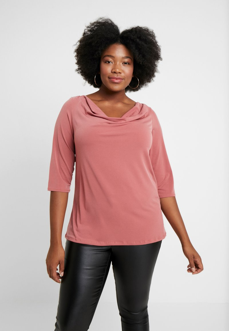 Dorothy Perkins Curve - COWL NECK DUSTY ROSE - Long sleeved top - pink
