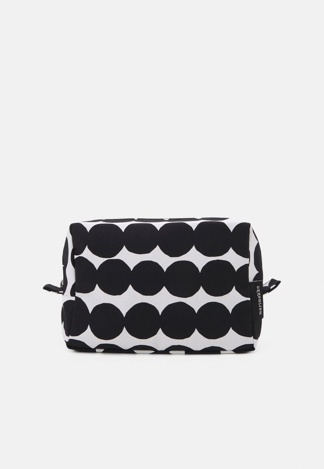 VILJA RÄSYMATTO COSMETIC BAG - Wash bag - white/black