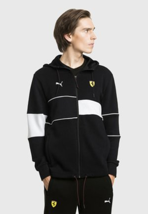 FERRARI - Zip-up hoodie - black