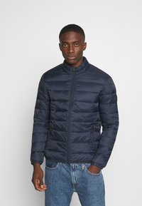 Jack & Jones - JJEMAGIC PUFFER COLLAR  - Light jacket - navy blazer - 0