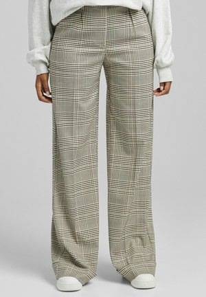 WIDE - Trousers - brown